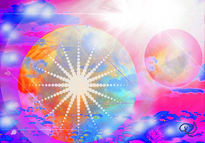 Art Print featuring the digital art Cosmic Delight by Ute Posegga-Rudel