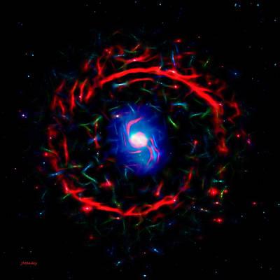 Digital Esoteric Photograph - Cosmic Eye by John M Bailey