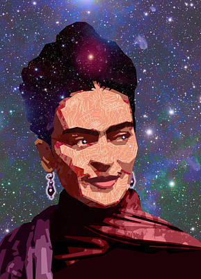 Cosmic Frida Art Print by Douglas Simonson