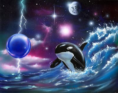 Cosmic Ocean Original by Luis  Navarro