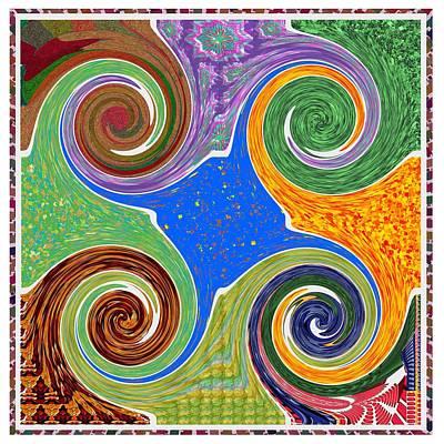 Mixed Media - Cosmic Healing Energy  Source Imagination Connection Tuning Faith Belief Mandala Chakra Reiki Karuna by Navin Joshi