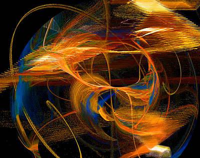 Digital Art - Cosmic Keyboard - Music In The Heavenlies by R Thomas Brass