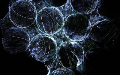 Cosmic Marbles Art Print