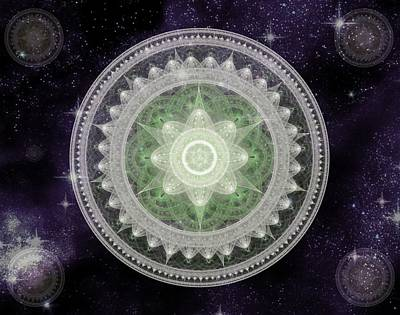 Cosmic Medallions Earth Art Print by Shawn Dall
