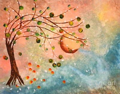Cosmic Orb Tree Art Print by Denise Tomasura