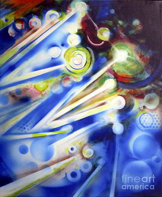 Painting - Cosmic Orbs #7 by Yael Avi-Yonah