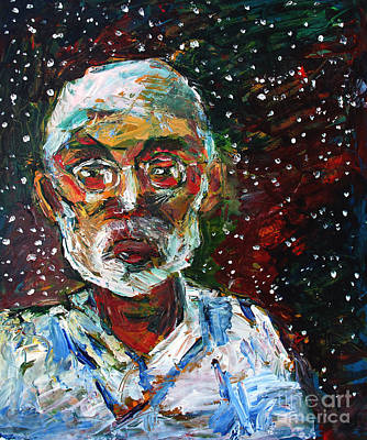Carbon The Element Of Life Painting - Cosmic Palette Self-portrait by Charlie Spear
