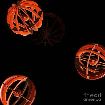 Cosmic Pumpkins By Jammer Art Print by First Star Art
