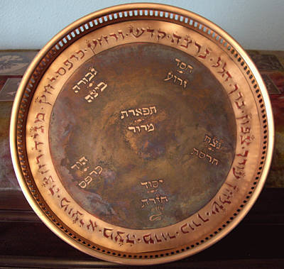 Mixed Media - Cosmic Seder Plate by Shahna Lax