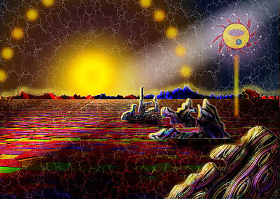 Digital Art - Cosmic Signpost by Melinda Fawver