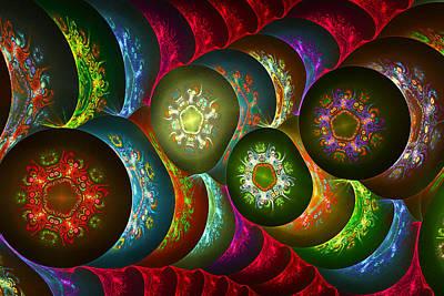 Cosmic Snow Flakes Art Print