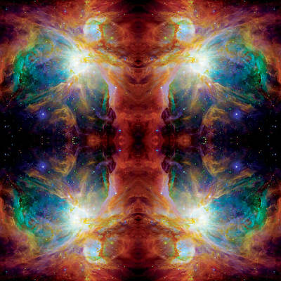 Nasa Images Photograph - Cosmic Spine Deep Space Reflection by Jennifer Rondinelli Reilly - Fine Art Photography