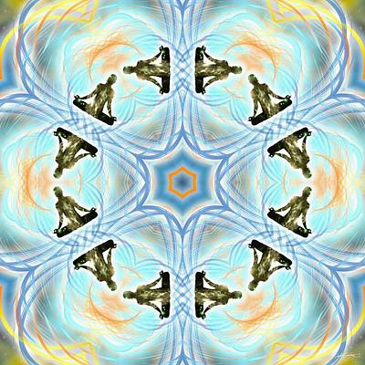 Digital Art - Cosmic Spiral Kaleidoscope 01 by Derek Gedney