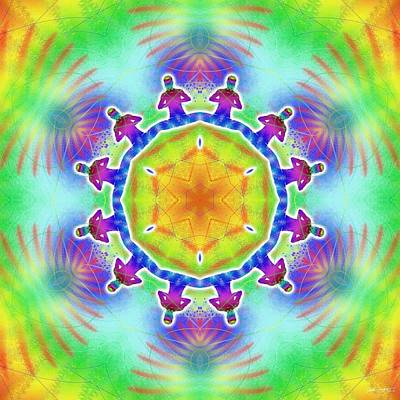 Digital Art - Cosmic Spiral Kaleidoscope 02 by Derek Gedney