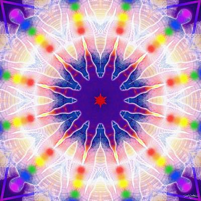 Digital Art - Cosmic Spiral Kaleidoscope 03 by Derek Gedney