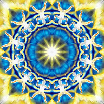Digital Art - Cosmic Spiral Kaleidoscope 05 by Derek Gedney