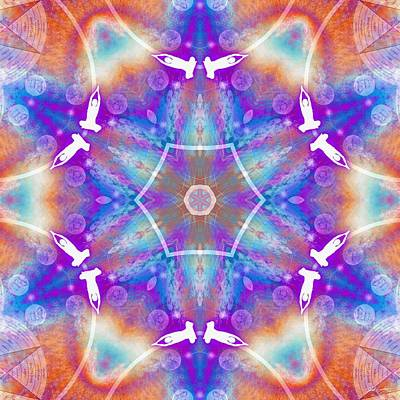 Digital Art - Cosmic Spiral Kaleidoscope 12 by Derek Gedney