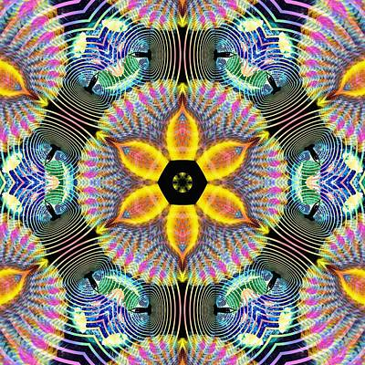 Digital Art - Cosmic Spiral Kaleidoscope 13 by Derek Gedney