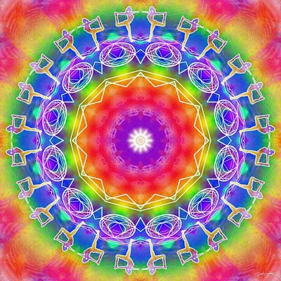 Digital Art - Cosmic Spiral Kaleidoscope 14 by Derek Gedney