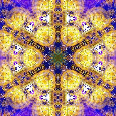 Digital Art - Cosmic Spiral Kaleidoscope 15 by Derek Gedney