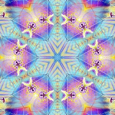 Digital Art - Cosmic Spiral Kaleidoscope 17 by Derek Gedney