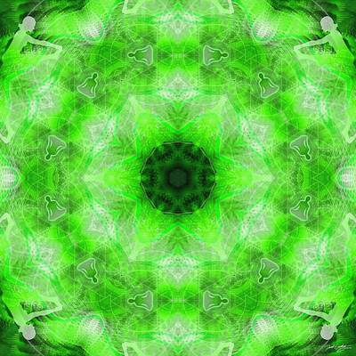 Digital Art - Cosmic Spiral Kaleidoscope 21 by Derek Gedney