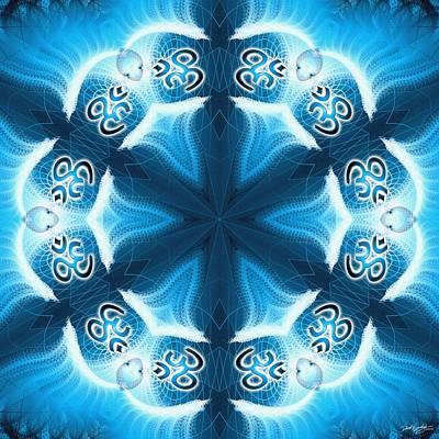Digital Art - Cosmic Spiral Kaleidoscope 27 by Derek Gedney