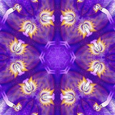 Digital Art - Cosmic Spiral Kaleidoscope 28 by Derek Gedney