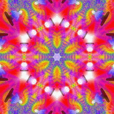 Digital Art - Cosmic Spiral Kaleidoscope 29 by Derek Gedney