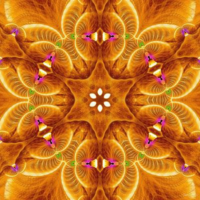 Digital Art - Cosmic Spiral Kaleidoscope 30 by Derek Gedney