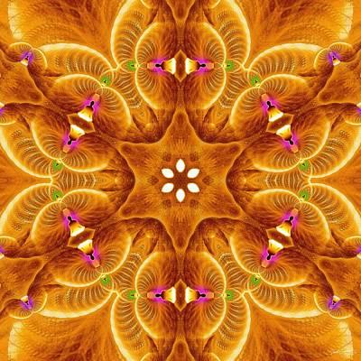 Digital Art - Cosmic Spiral Kaleidoscope 30 by Derek Gedney