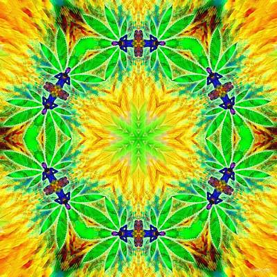 Digital Art - Cosmic Spiral Kaleidoscope 31 by Derek Gedney