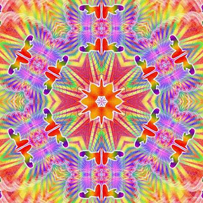 Digital Art - Cosmic Spiral Kaleidoscope 33 by Derek Gedney