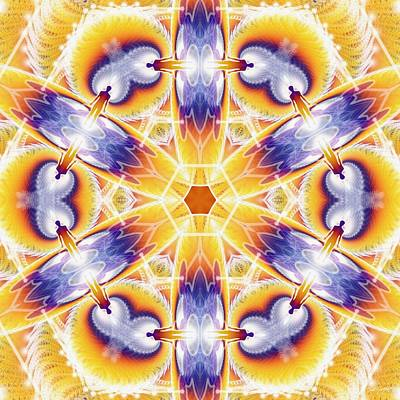 Digital Art - Cosmic Spiral Kaleidoscope 35 by Derek Gedney