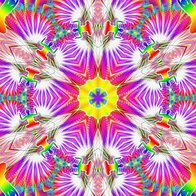 Digital Art - Cosmic Spiral Kaleidoscope 37 by Derek Gedney