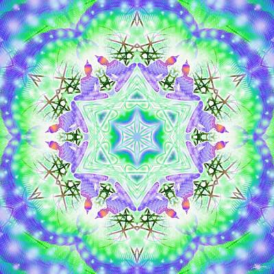 Digital Art - Cosmic Spiral Kaleidoscope 38 by Derek Gedney