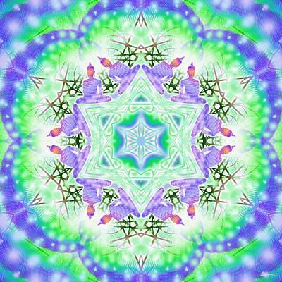 Digital Art - Cosmic Spiral Kaleidoscope 38 by Derek Gedney