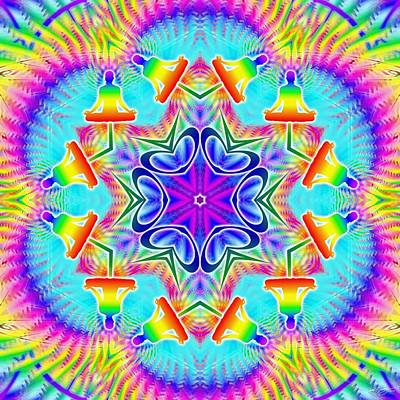 Digital Art - Cosmic Spiral Kaleidoscope 39 by Derek Gedney