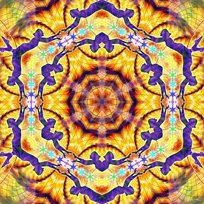 Digital Art - Cosmic Spiral Kaleidoscope 40 by Derek Gedney