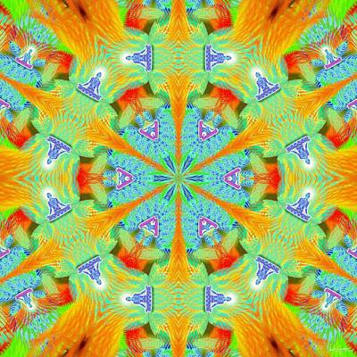 Digital Art - Cosmic Spiral Kaleidoscope 41 by Derek Gedney