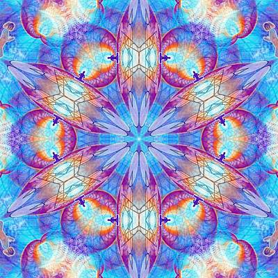 Digital Art - Cosmic Spiral Kaleidoscope 43 by Derek Gedney