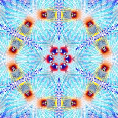 Digital Art - Cosmic Spiral Kaleidoscope 44 by Derek Gedney