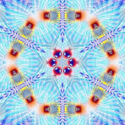 Digital Art - Cosmic Spiral Kaleidoscope 44 by Derek Gedney