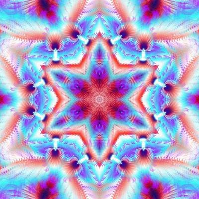 Digital Art - Cosmic Spiral Kaleidoscope 45 by Derek Gedney