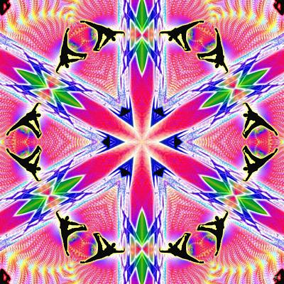 Digital Art - Cosmic Spiral Kaleidoscope 46 by Derek Gedney