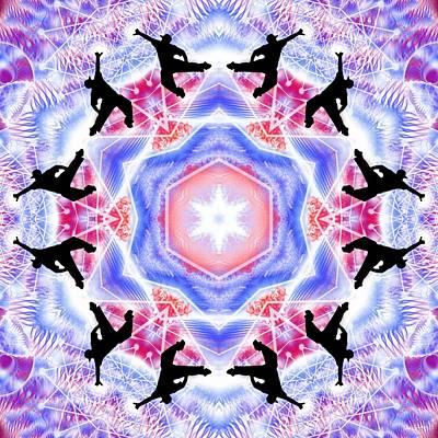 Digital Art - Cosmic Spiral Kaleidoscope 47 by Derek Gedney