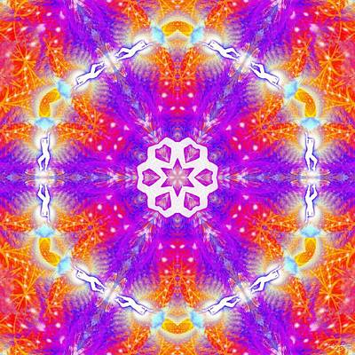 Digital Art - Cosmic Spiral Kaleidoscope 48 by Derek Gedney