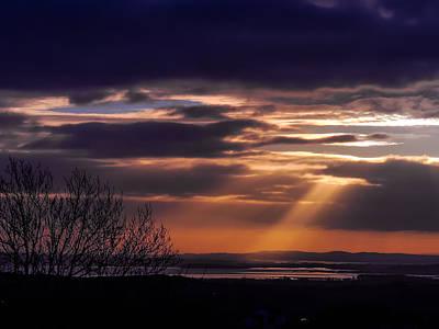 Photograph - Cosmic Spotlight On Shannon Airport by James Truett