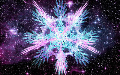 Digital Art - Cosmic Starflower by Shawn Dall