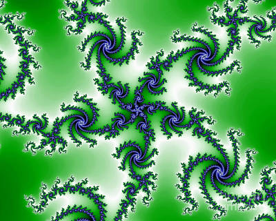 Cosmic Swirls Art Print